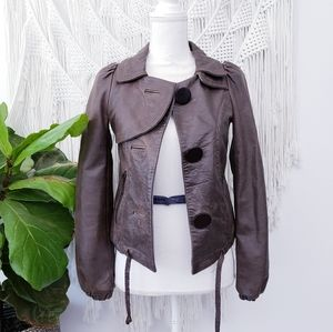 Doma Dark Brown Leather Jacket